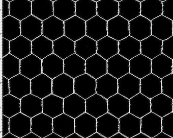Wire - Black - 692-232 - Loralie Designs - Fabric - Sold by the Half Yard
