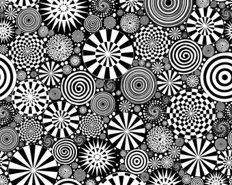Twirling - Black - PWKP014.BLACK - Dance Moves - Katie Posquini Masopust - Fabric - Sold by the Half Yard