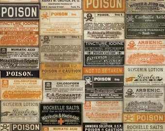 Apothecary - Multi - Regions Beyond - PWTH072.MULTI - Tim Holtz - Fabric - Sold by the Half Yard