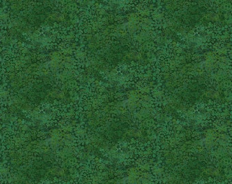 Shimmer Morning Glory - River Rock - Dark Green - 23323M-78 - Northcott - Fabric - BTY, HY & FQ
