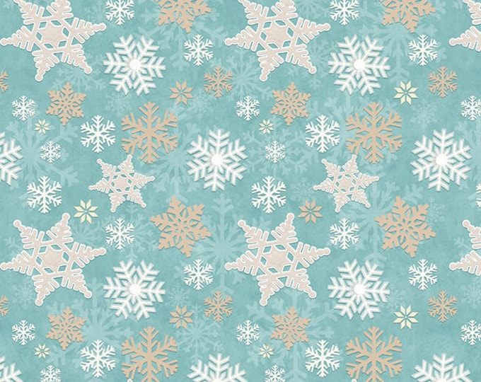 I Love Sn'Gnomies - Flannel - Aqua - F9636-11 - Shelly Comiskey - Henry Glass - Fabric - Sold by the Half Yard
