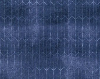 Tim Holtz - Chalk Lines - Blue - PWTH067.8BLUE - Fabric - Sold by the Half Yard & Fat Quarter