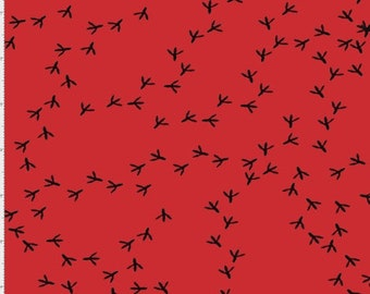 Tracks - Red - 692-228 - Loralie Designs - Fabric - Sold by the Half Yard & Fat Quarter