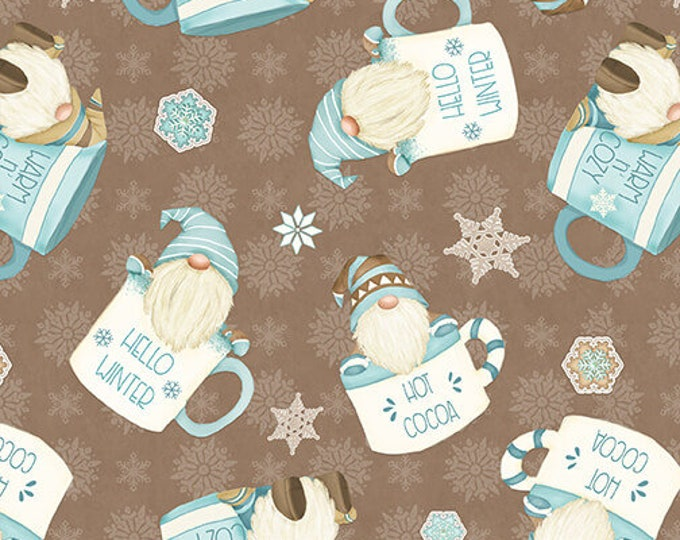 I Love Sn'Gnomies - Flannel - Brown - F9640-33 - Shelly Comiskey - Henry Glass - Fabric - Sold by the Half Yard