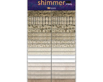 "2 1/2"" Strips - Sand - Shimmer - 40 pc. per pack + Free Blurred Lines Pattern - SSHIMMER40-12 - Northcott - Fabric"