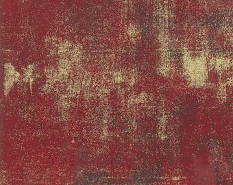 Grunge Metallic - Red Berry - 30150 523M - Moda - Fabric - Sold by the Half Yard