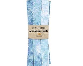 Fat Quarter Roll - Gradation - Stonehenge - Mystic Midnight - 8 Fat Quarters Per Roll - RSTONE8-46 - Northcott - Fabric