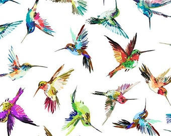 Hummingbird Lane - Hummingbirds - Multi - 10HL 1 - In the Beginning - Fabric - Sold by the Half Yard