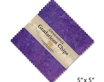 "5"" Gradation Chips - Amethyst - Stonehenge - Brights - 42 pc. per pack - CSTONE42-85 - Northcott - Fabric"