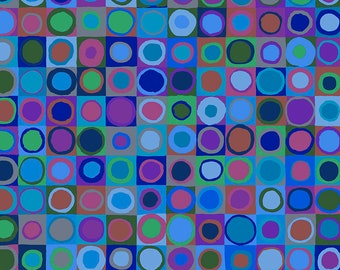 Kaffe Fassett - August 2020 - Tiddlywinks - Cool - PWGP171.COOL - Fabric - Sold by the Half Yard