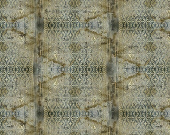 Abandoned - Stained Damask - Neutral - PWTH133.NEUTRAL - Tim Holtz - Fabric - Sold by the Half Yard