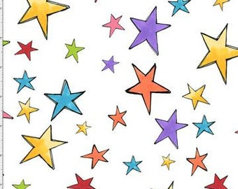 Loralie Designs - Stars - White - 692-213 - Fabric - BTY, HY & FQ