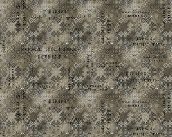Abandoned - Faded Tile - Neutral - PWTH129.NEUTRAL - Tim Holtz - Fabric - By the Yard, Half Yard & Fat Quarter