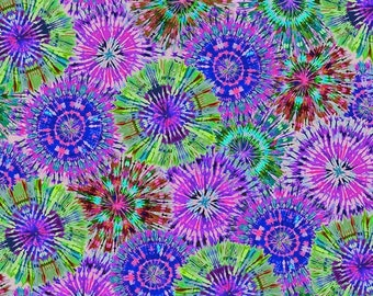 """108"""" Quilt Backing Fabric - Starburst - Jeweltone - 2655W-58 - Henry Glass - Sold By The Yard"""