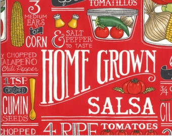 Homegrown Salsa - Tomato - 19970 12 -  Moda - Fabric - BTY, HY & FQ