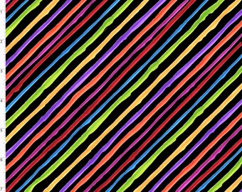 Quirky Biased Stripe - Black - 692-433 - Loralie Designs - Fabric - Sold by the Half Yard