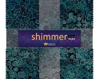 """10"""" Tiles - Iceberg - Shimmer - 42 pc. per pack + Free Tile Play Pattern - TSHIMMER42-68 - Northcott - Fabric"""