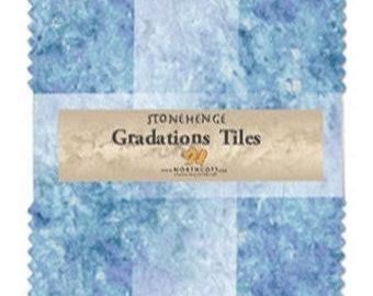 "5"" Gradation Chips - Stonehenge - Mystic Midnight - 42 pc. per pack - CSTONE42-46 - Northcott - Fabric"
