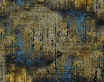 Abandoned 2 - Gilded Mosaic - Gold - PWTH140.GOLD - Tim Holtz - Fabric - Sold by the Half Yard