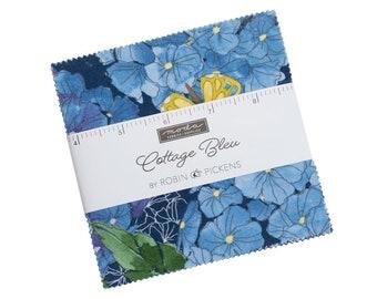 "Cottage Bleu - 42 pc. 5"" Squares Charm Pack - 48690PP - Moda - Fabric"