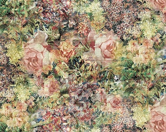 Bouquet - Multi - PWTH014.MULTI - Eclectic Elements - Tim Holtz - Fabric - By the Yard, Half Yard & Fat Quarter