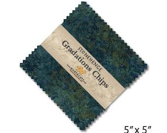 "5"" Gradation Chips - Stonehenge - Blue Planet - 42 pc. per pack - CSTONE42-49 - Northcott - Fabric"