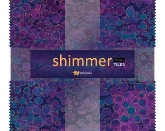 """10"""" Tiles - Midnight Sky - Shimmer - 42 pc. per pack + Free Tile Play Pattern - TSHIMMER42-85 - Northcott - Fabric"""