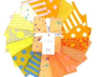 Fat Quarter Bundle - Goldfish - Tula TRUE - 16 pc. per bundle - Tula Pink - FB2FQTP.GOLDFISH- Fabric