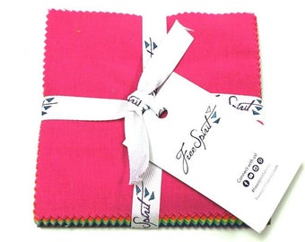 """5"""" Charm Squares - Tula Pink - 42 pc. per pack - Solids - FB6CPTP.SOLID - Fabric"""