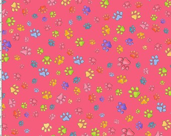 Pawful - Pink - #692-193 - Loralie Designs - Fabric - BTY, HY & FQ