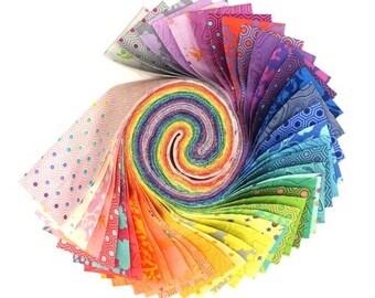 "2 1/2"" Strips - 40 pc. Designs Roll - Tula's True Colors - Tula Pink - FB4DRTP.TULATRUE - Fabric"