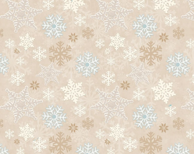 I Love Sn'Gnomies - Flannel - Beige - F9636-33 - Shelly Comiskey - Henry Glass - Fabric - Sold by the Half Yard