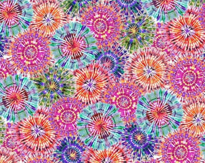 """108"""" Quilt Backing Fabric - Starburst - Multi Bright - 2655W-11 - Henry Glass - Sold By The Yard"""