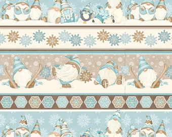 I Love Sn'Gnomies - Flannel - Multi - F9645-13 - Shelly Comiskey - Henry Glass - Fabric - Sold by the Half Yard