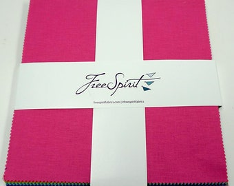 """10"""" Charm Squares - Tula Pink - 42 pc. per pack - Solids - FB610TP.SOLID - Fabric"""