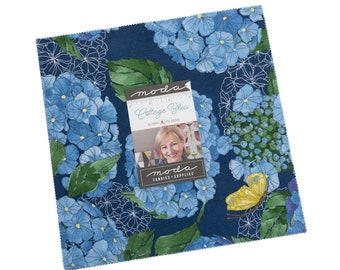 "Cottage Bleu - 42 pc. 10"" Squares Layer Cake - 48690LC - Moda - Fabric"