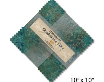 "10"" Gradation Tiles - Stonehenge - Oxidized Copper - 42 pc. per pack - TSTONE42-69 - Northcott - Fabric"
