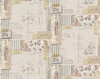 Tim Holtz - Vogue - Multi - PWTH109.MULTI - Fabric - Sold by The Half Yard
