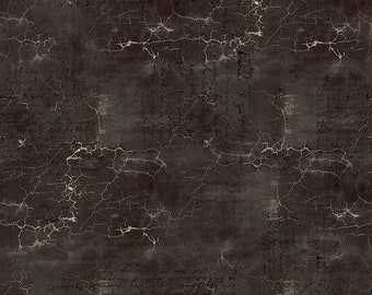 Abandoned - Cracked Shadow - Black - PWTH128.BLACK - Tim Holtz - Fabric - Sold by the Half Yard