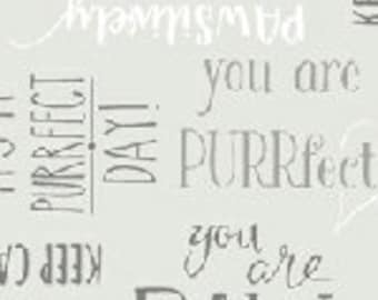 Purrfect Day - Purrfect Words - 52373-5 - Windham - Fabric - Sold by the Half Yard