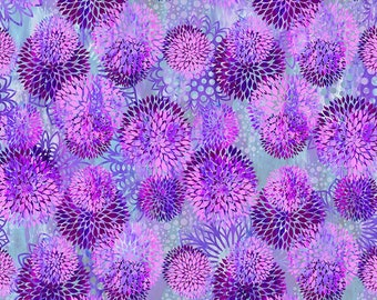 FloragraphixV - Chrysanthemum - Purple - 3FGE 3 - In the Beginning - Fabric - BTY, HY & FQ