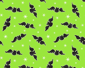 Here We Glow - Green - Glow In The Dark - 9537G-69 - Henry Glass - Fabric - Sold by the Half Yard