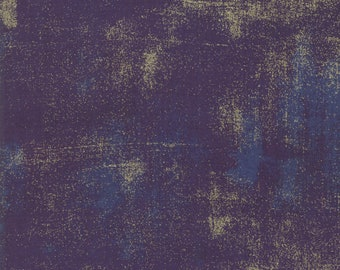 Grunge Metallic - Eggplant - 30150-245M -  Moda - Fabric - Sold by the Half Yard