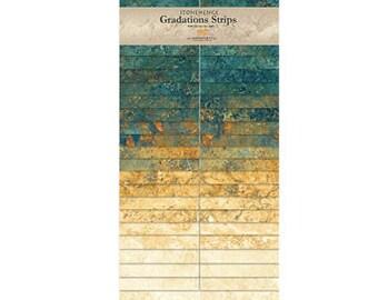 "2 1/2"" Strips Gradation - Stonehenge - Oxidized Copper - 40 pc. per pack - SSTONE40-69 - Northcott - Fabric"