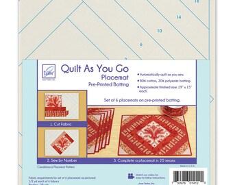 Quilt As You Go - 6 Placemats - Casablanca - JT 1412 - Moda - Kit