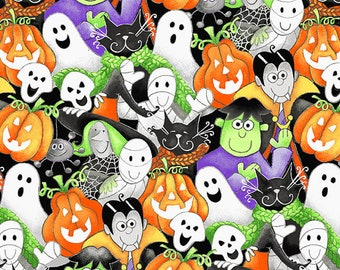 Here We Glow - Multi - Glow In The Dark - 9535G-93 - Henry Glass - Fabric - Sold by the Half Yard