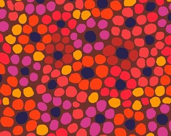Kaffe Fassett - August 2020 - Flower Dot - Warm - PWBM077.WARM - Fabric - Sold by the Half Yard