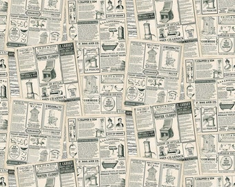 Read All About It - 24036-12 - Nature's Calling - Northcott - Fabric - Sold by the Half Yard