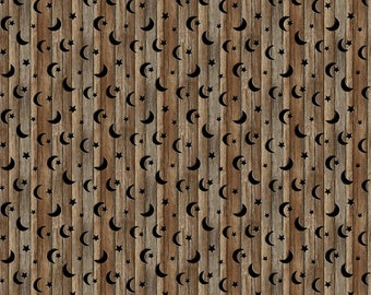 Wood With Stars - Brown Multi - 24038-36 - Nature's Calling - Northcott - Fabric - Sold by the Half Yard