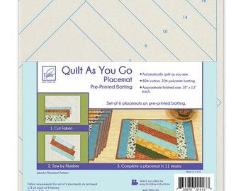Quilt As You Go - 6 Placemats - Jakarta - JT 1413 - Moda - Kit
